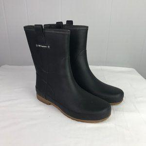 ♦️ Trentorn | Size 38. Black Pull On Rain Boots